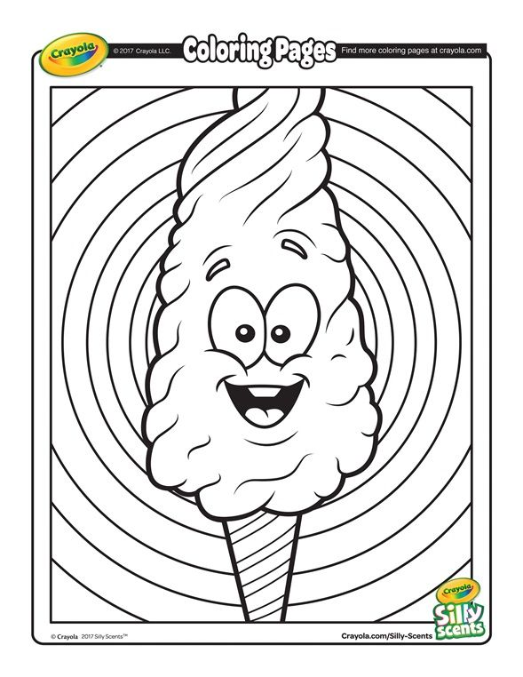 crayola coloring page silly scents cotton candy coloring