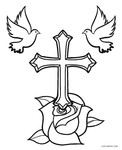 crosses with flowers coloring pages kaigobank