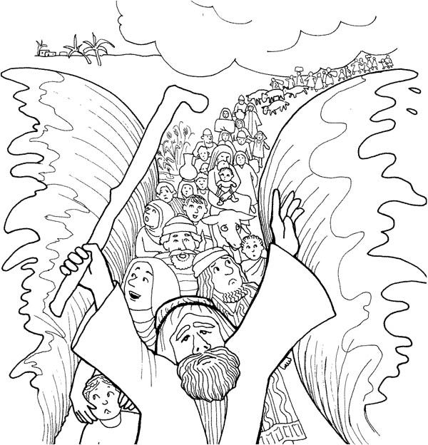 crossing red sea coloring pages kaigobank