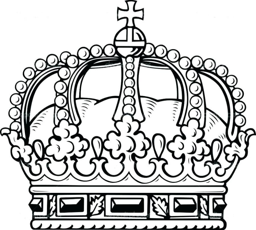 crown coloring pages printable at getdrawings free for