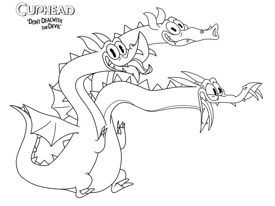 cuphead coloring pages coloring pages kids 2019