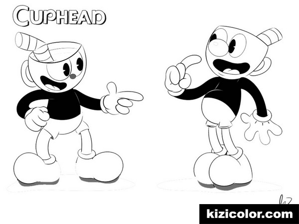 cuphead free printable coloring pages for girls and boys