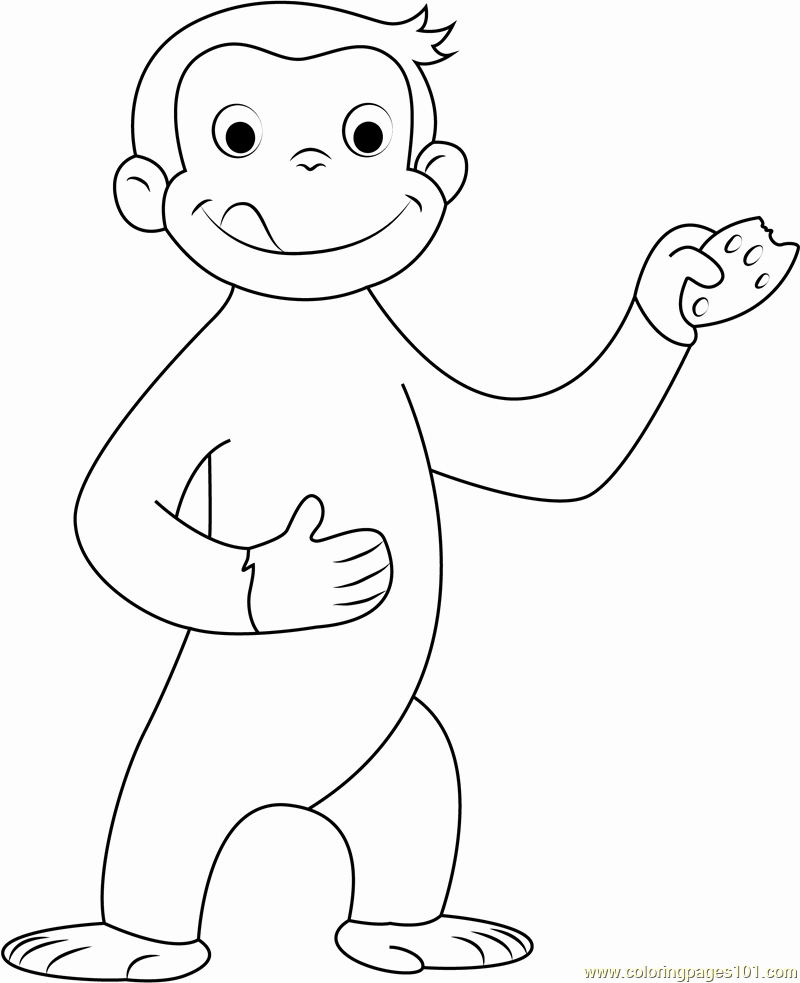 curious george coloring page elegant curious george coloring