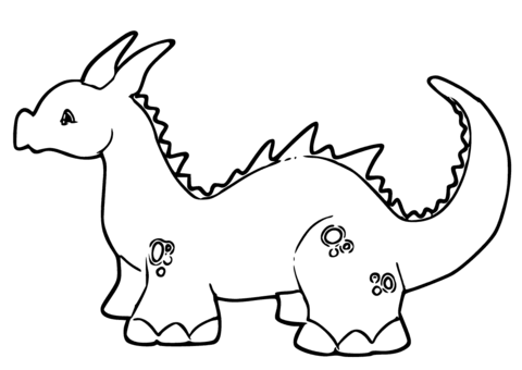cute ba dragon coloring page free printable coloring pages