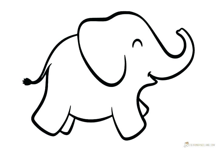 cute ba elephant coloring pages