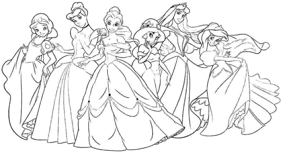 cute disney princess coloring pages for girls disney