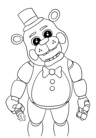 cute five nights at freddys coloring page free printable