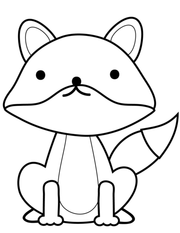 cute fox coloring page free printable coloring pages