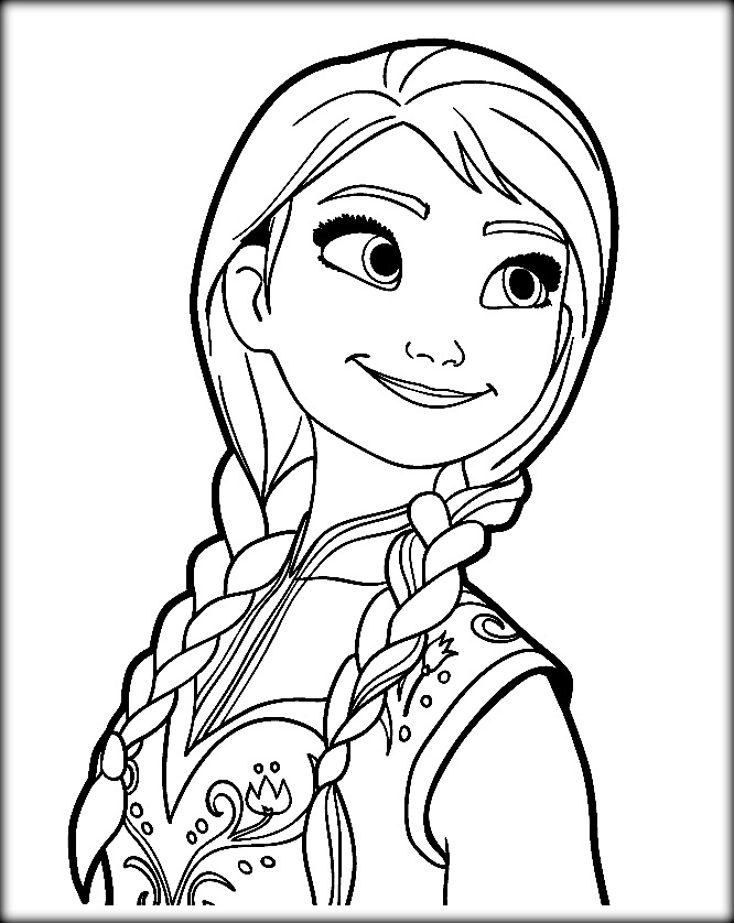 cute frozen coloring pages at getdrawings free for