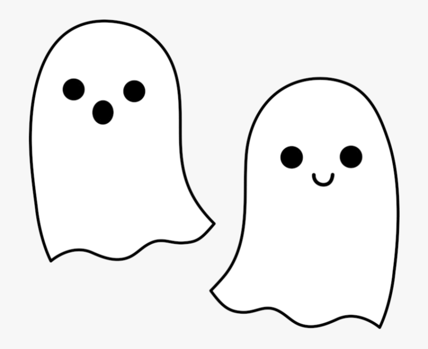 cute ghost coloring pages transparent cartoon free