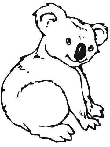 cute koala coloring page free printable coloring pages