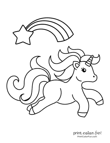 cute my little unicorn 5 different coloring pages to print