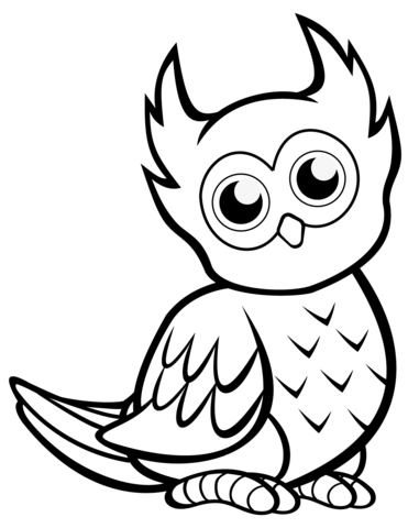 cute owl coloring page free printable coloring pages