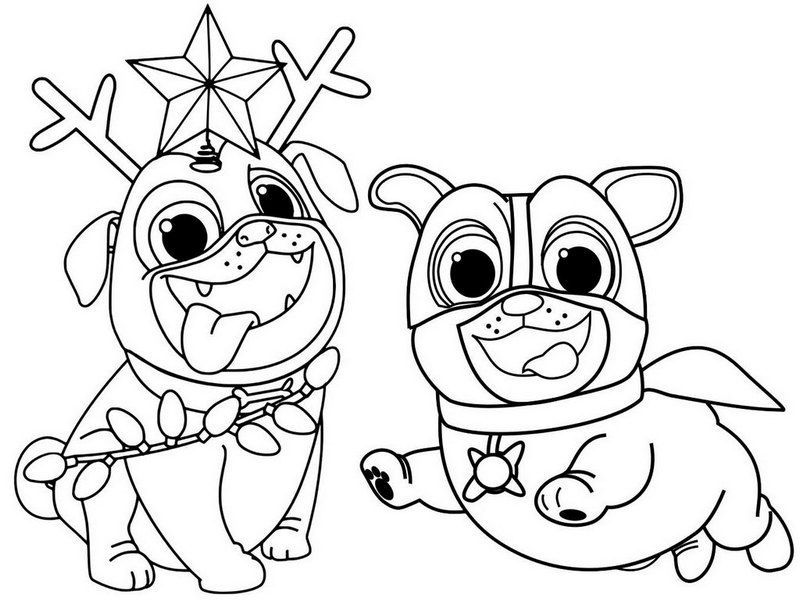 cute puppy dog pals coloring page in 2020 puppy coloring