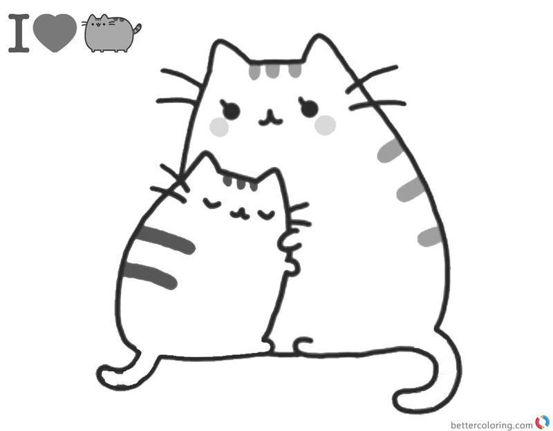 cute pusheen coloring pages image pdf coloring printable