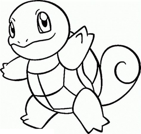 cute squirtle coloring pages pokemon educative printable