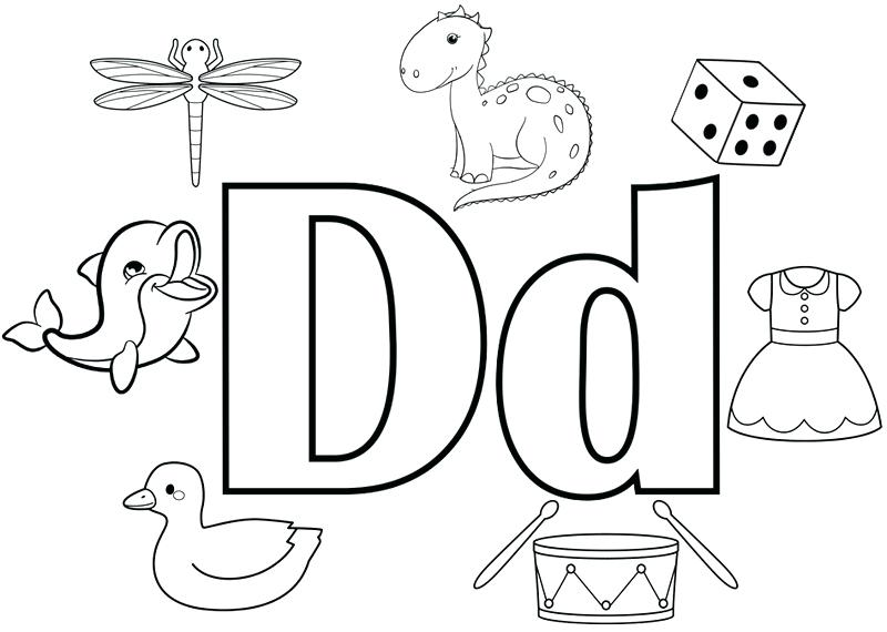 d coloring pages to print unicorn 5 fun letter for kids