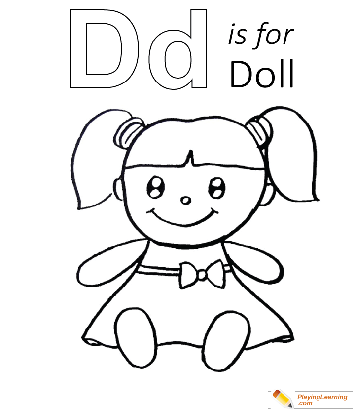 d is for doll coloring page free d is for doll coloring page