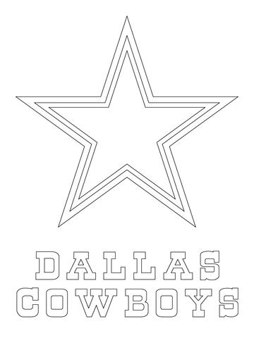 dallas cowboys logo coloring page free printable coloring