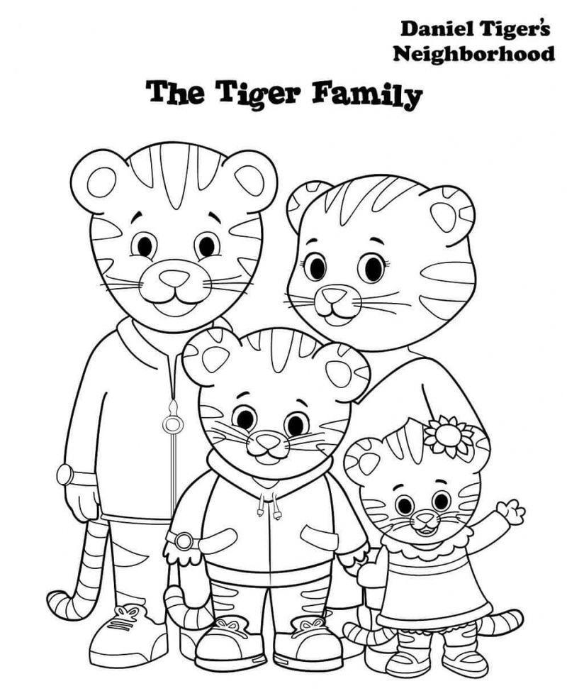 daniel tiger coloring pages ideas for kids daniel tiger