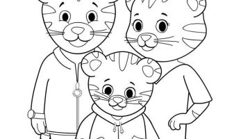 12 Free Printable Daniel Tiger's Neighborhood Coloring Pages | 200x350