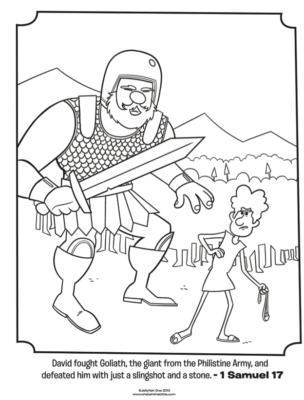 david and goliath bible coloring pages whats in the bible