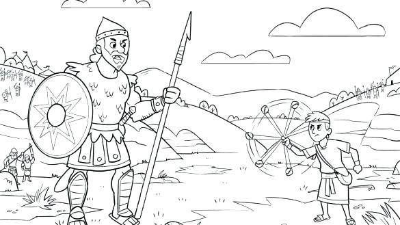 david and goliath coloring page pages nuekaclub