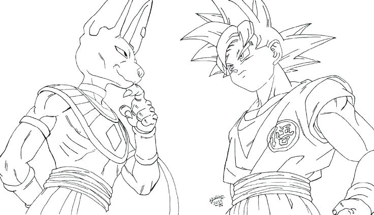 dbz coloring pages dragon ball super goku schager