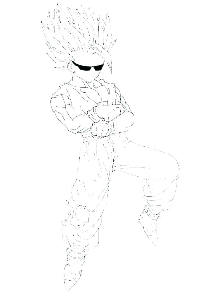 dbz coloring pages goku super saiyan god blue dragon ball z
