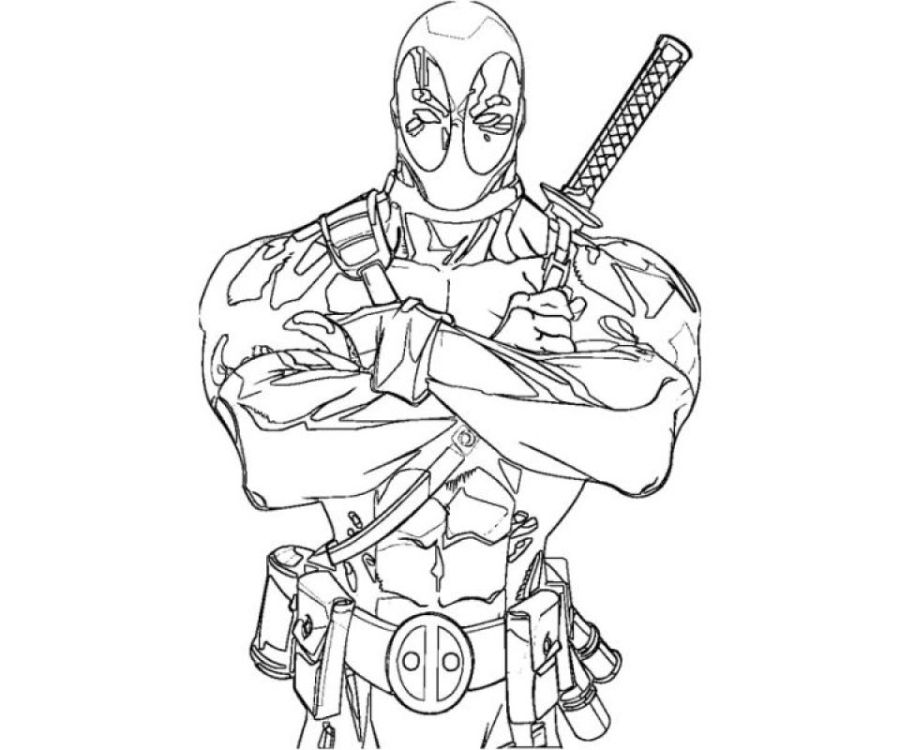 deadpool coloring pages free printable 107432 coloring