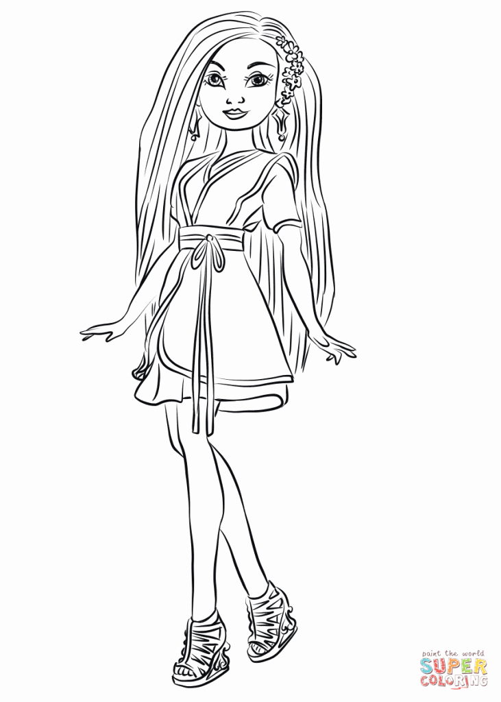 descendants 2 coloring page awesome lonnie from descendants