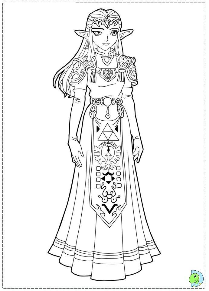 dessin zelda imprimer 22975 coloring pages for kids