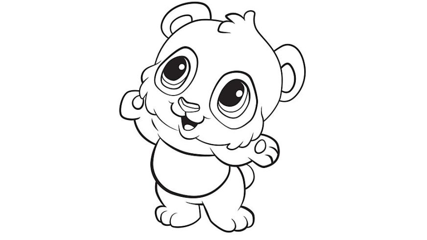 detailed panda coloring pages