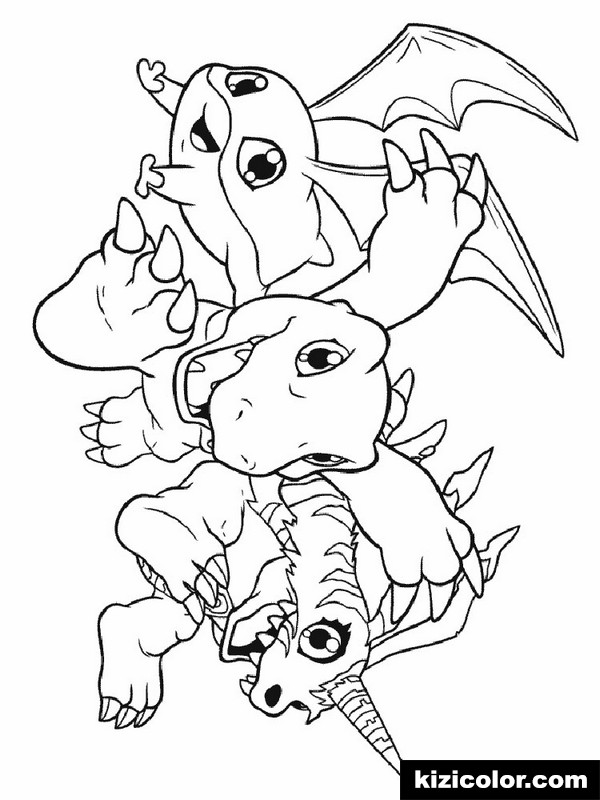 digimon 1 kizi free coloring pages for children coloring