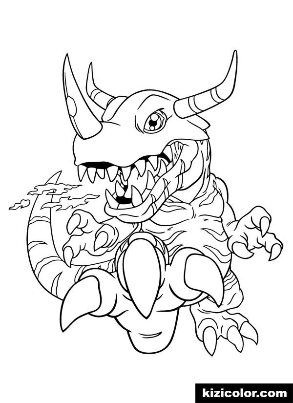 digimon 164 kizi free coloring pages for children