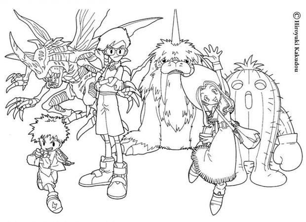 digimon heroes coloring pages hellokids