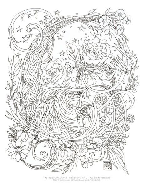 digital download this is a complex coloring page designed
