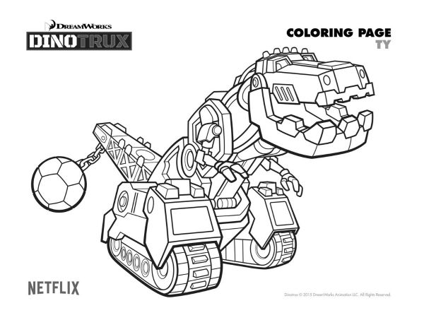 dinotrux birthday party ideas and themed supplies coloring