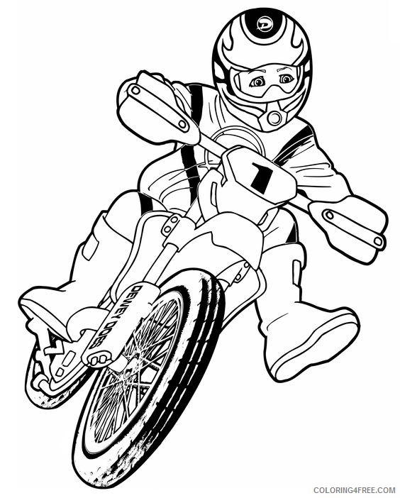 dirt bike coloring pages for kids coloring4free