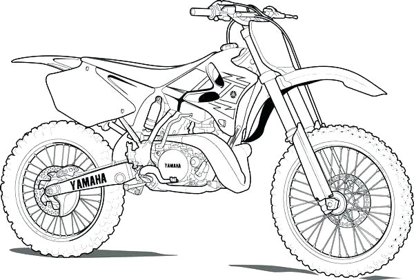 dirt bike coloring sheets pages page new telematik