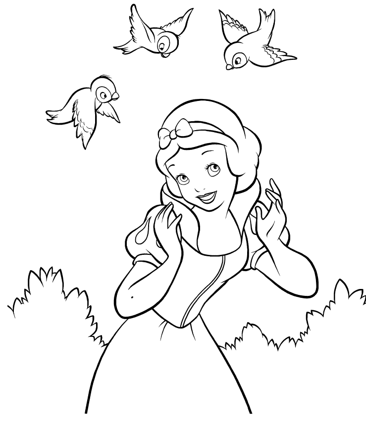 disney princess coloring pages snow white snow white