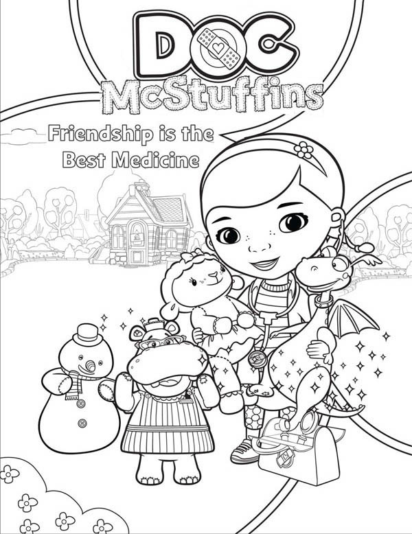 doc mcstuffins coloring pages for christmas christmas