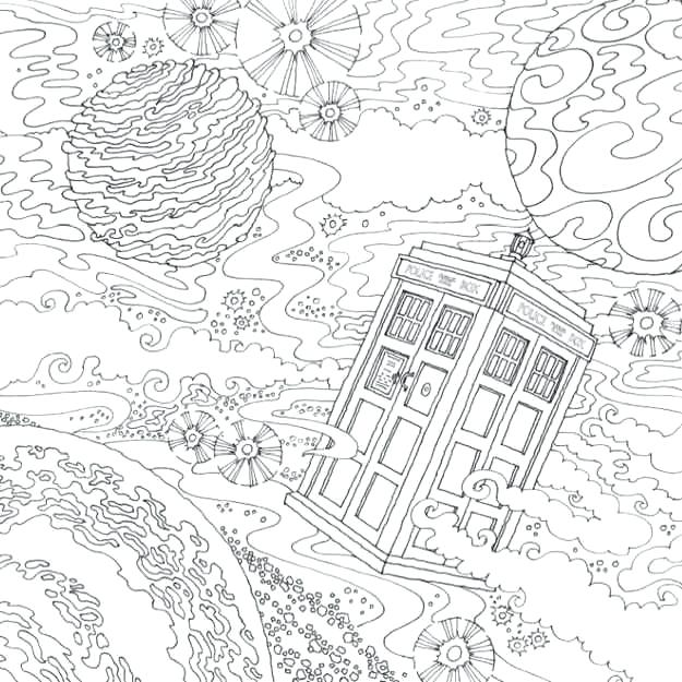 doctor who coloring pages tardis at getdrawings free