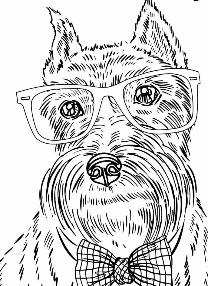 dog adult coloring books elegant 8 best dog coloring pages