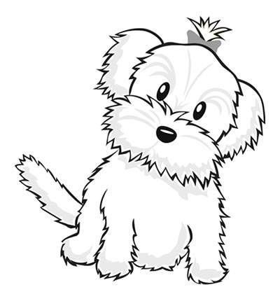 dog color pages printable cute dog coloring pages for