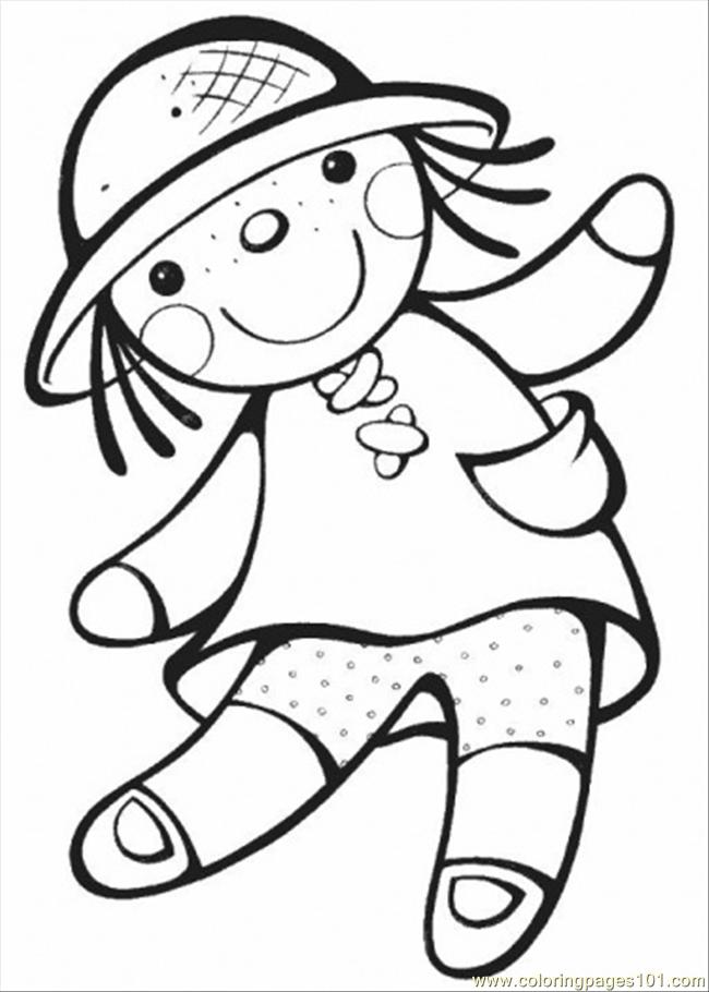 doll coloring page free gender coloring pages