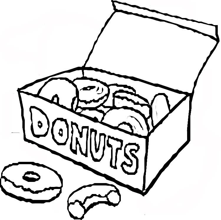 donut box coloring page 2019 open coloring pages