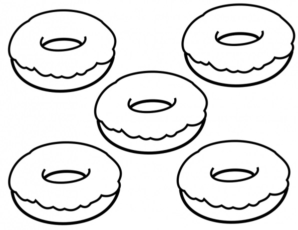 donut coloring pages best coloring pages for kids