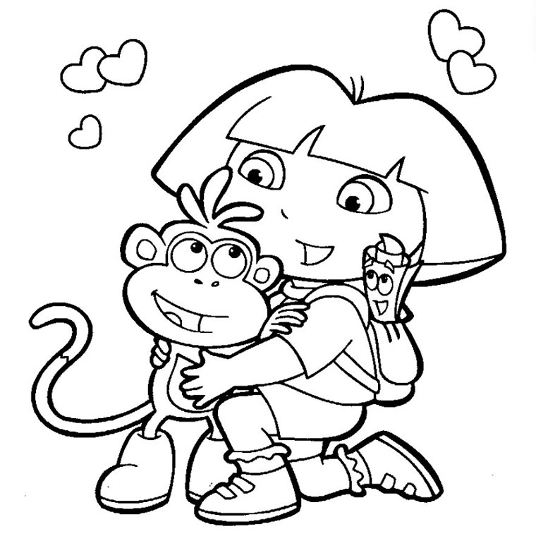 dora the explorer to print dora the explorer kids coloring