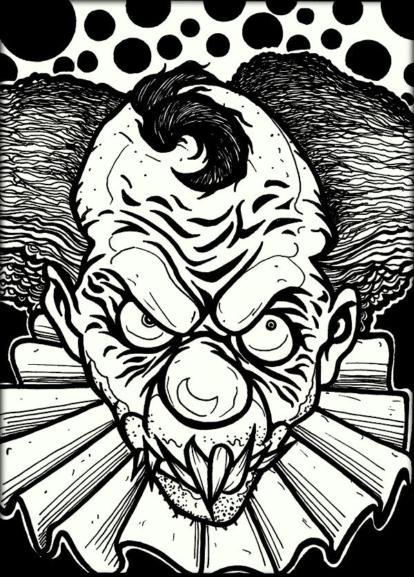 download free printable scary coloring pages for adults
